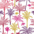 Palm trees seamless pattern background — Stock Vector