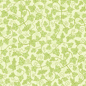 Ivy plants seamless pattern background — Stock Vector