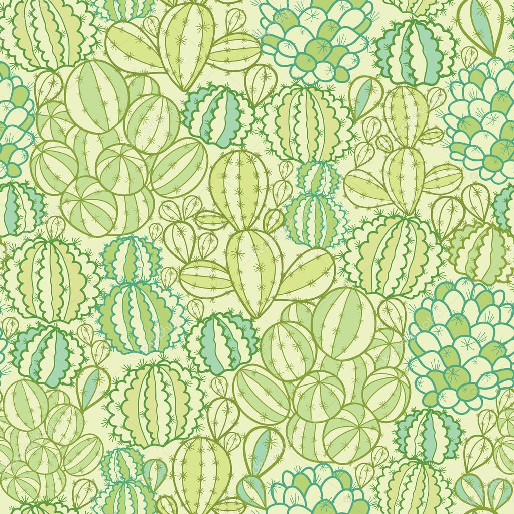 Cactus plants texture seamless pattern background — Stock Vector ... Green Texture Repeating Background