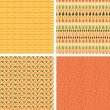 Vector de stock : Set of four abstract stripes horizontal seamless patterns