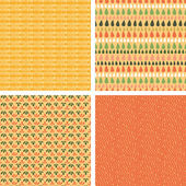 Set of four abstract stripes horizontal seamless patterns — Stock Vector