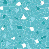 Blue and white mosaic texture seamless pattern background — Stok Vektör