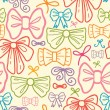 Colorful bows seamless pattern background — Stock Vector