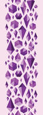 Purple geometric jewel shapes vertical seamless pattern border — Stock Vector