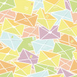 Love letters envelopes seamless pattern background — Imagen vectorial