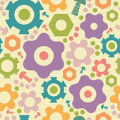 Gogwheals and gears seamless pattern background — Stock Vector