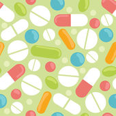 Pills seamless pattern background — Stock Vector