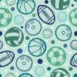 Royalty-Free Stock Vector Image: Sports balls seamless patterns backgrounds