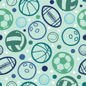 Sports balls seamless patterns backgrounds — Stock Vector