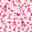 Bells and butterflies seamless pattern background — Stockvektor
