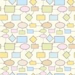 geest kaart vector naadloze patroon achtergrond sjabloon — Stockvector