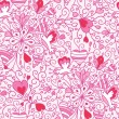 Love flowers seamless pattern background — Stock Vector