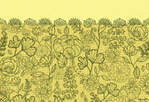 Fabric lace flowers horizontal seamless pattern background border — Stock Vector