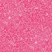 Romantic garden seamless pattern background — Stock Vector