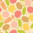 Yummy vegetables seamless pattern background — Stok Vektör