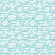 Doodle cars seamless pattern background — Stock Vector