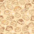 Zodiac signs girls seamless pattern background - Imagen vectorial