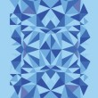 Blue triangle texture vertical seamless pattern background - Vettoriali Stock