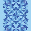 Blue triangle texture vertical seamless pattern background - Stock vektor