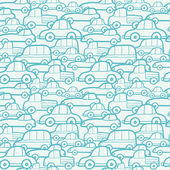 Doodle cars seamless pattern background — Stok Vektör