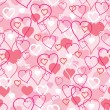 Valentine&#039;s Day hearts seamless pattern background - Stock Vector