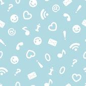 Internet symbols seamless pattern background — Stock Vector