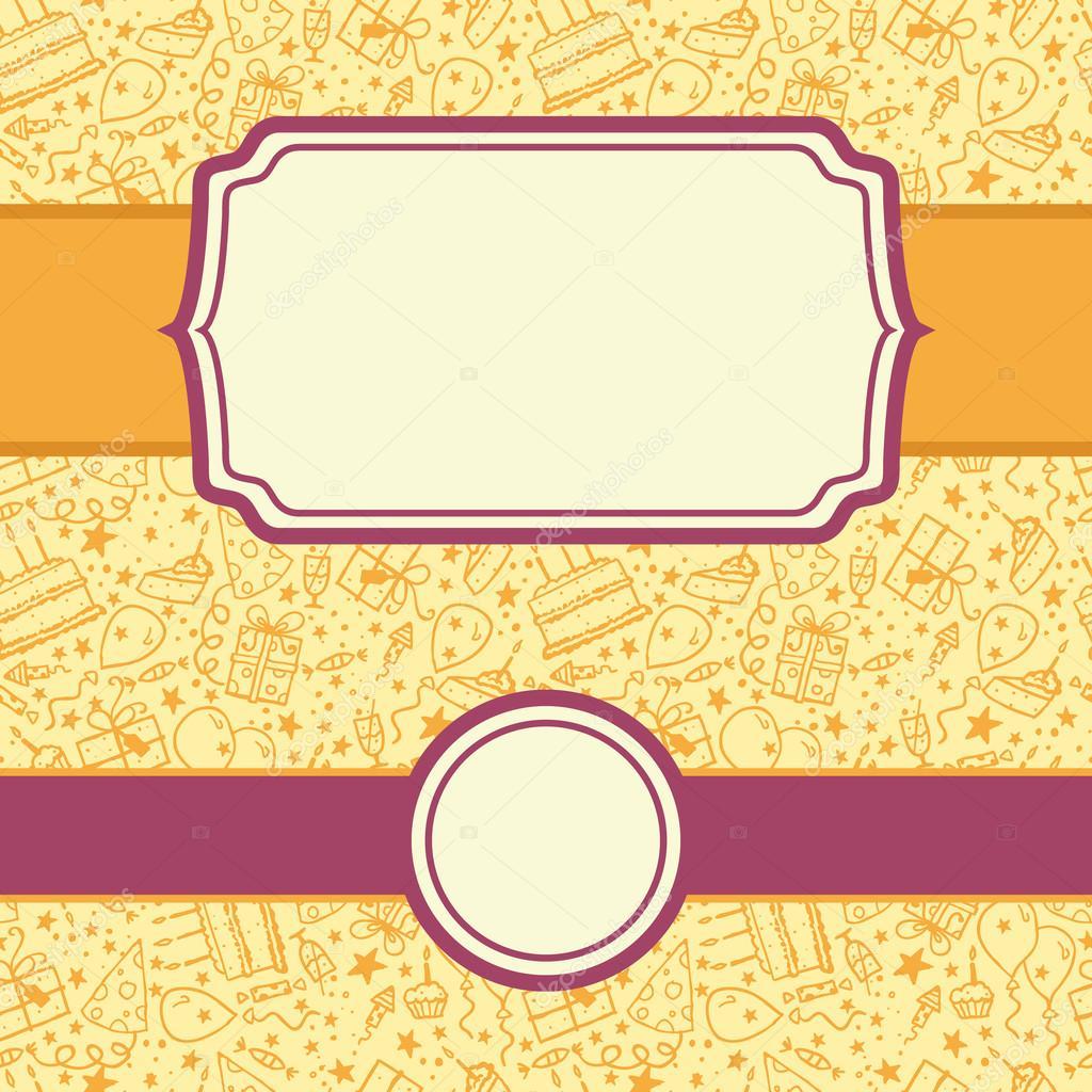Set de cumplea os doodle marcos y fondo transparente - Marcos transparentes ...