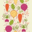 Root vegetables vertical seamless pattern background border — Stock Vector #18812265