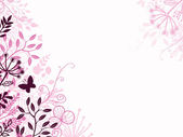 Pink and black floral background backdrop — Stock Vector