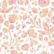 Textured pastel Leaves Seamless Pattern background - Векторная иллюстрация