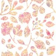Royalty-Free Stock Vector Image: Textured pastel Leaves Vertical Seamless Pattern background