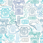 Vintage and modern telephones seamless pattern background — Stockvector