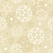 Molecules seamless pattern background — Stock Vector