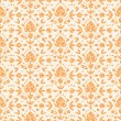 Golden floral damask seamless pattern background - Image vectorielle