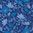 Dark night flowers seamless pattern background - Image vectorielle