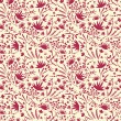 Painted abstract florals seamless pattern background — Stock Vector #18952729