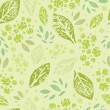 Stamped green Leaves Seamless Pattern Background — Stock Vector #18952871
