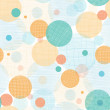 Fabric circles abstract seamless pattern background — Stock Vector