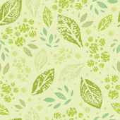 Stamped green Leaves Seamless Pattern Background — Stock Vector