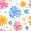 Stock Vector: Abstract paint flowers seamless pattern background