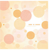 Fabric circles abstract frame pattern background — Stok Vektör