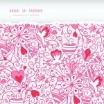Love garden horizontal torn paper pattern background — Stock Vector #19304735