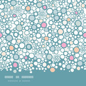 Colorful bubbles horizontal seamless pattern background — Stock Vector