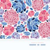 Flores de verano fondo transparente horizontal papel rasgado — Vector de stock