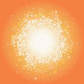 Fondo sunburst plantas mágicas — Vector de stock