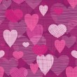 Royalty-Free Stock Vector Image: Fabric hearts romantic seamless pattern background