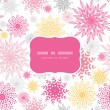 Abstract floral vignettes frame seamless pattern background - 