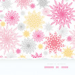Abstract floral vignettes torn frame seamless background - 