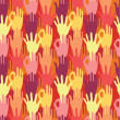 Stock Vector: Hands in crowd seamless pattern background