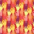 Hands in the crowd seamless pattern background — Stock Vector